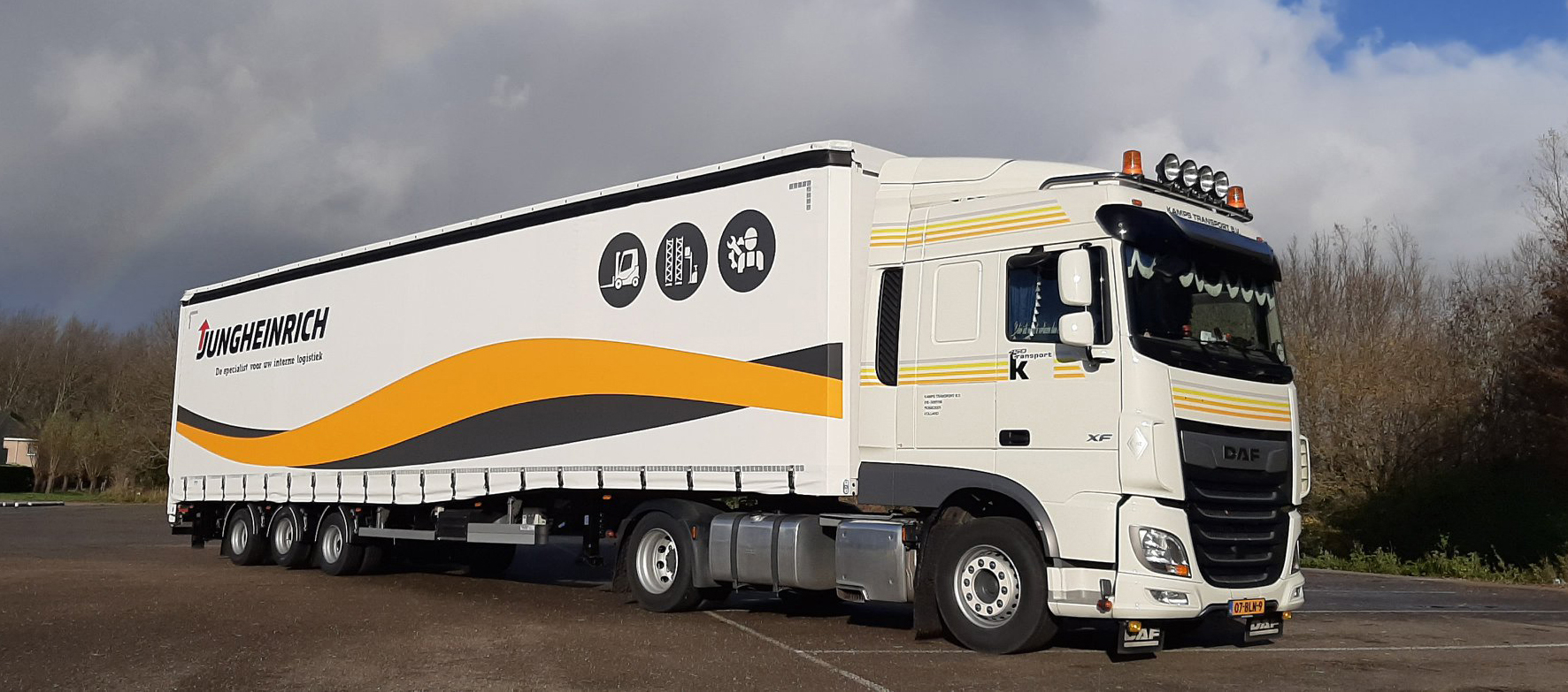 Burg trailer voor heftrucktransport