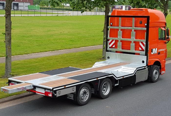 Speciale trias opbouw voor JM Logistics - Trailer Totaal