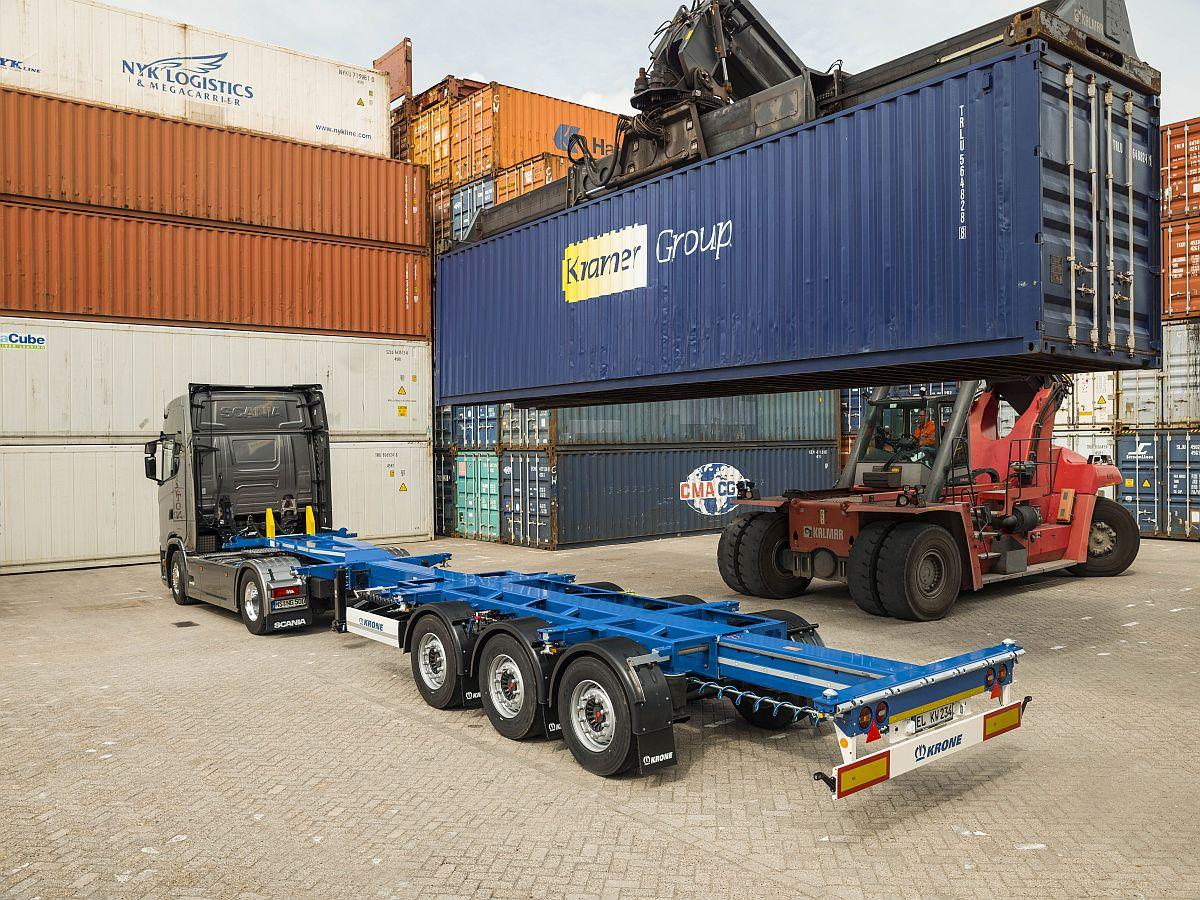 Chemineeholz Aufbewahrung nieuwe containerchassis krone trailer totaal