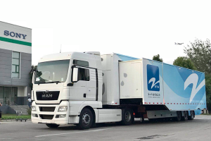 Akkermans/Draco Broadcastwagen voor China