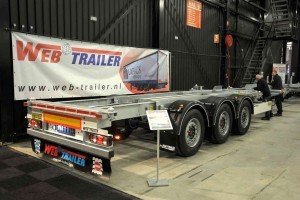 Web met containerchassis in Hardenberg