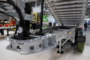 Fliegl 'Curved Chassis' kipperoplegger