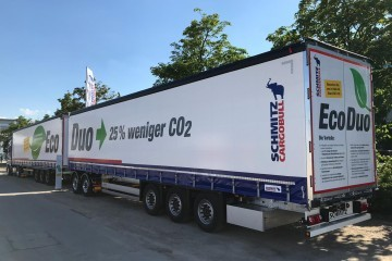 Schmitz toont A-Double op Transport Logistic